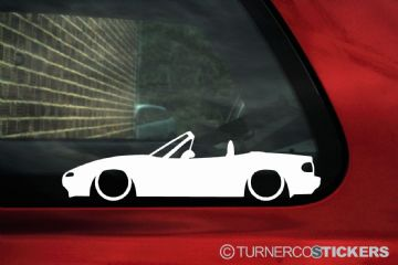 2x LOW Mazda Mx5 / Miata NA ,outline stickers
